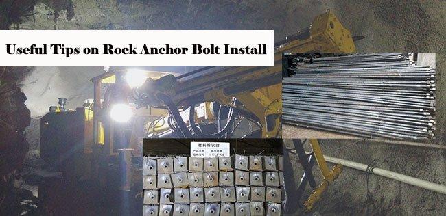 Tips for Rock Bolt Install